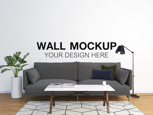 Salotto interno divano grigio