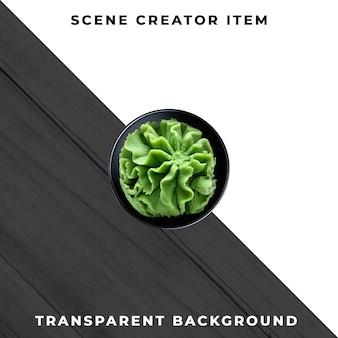 Salsa placa objeto transparente psd