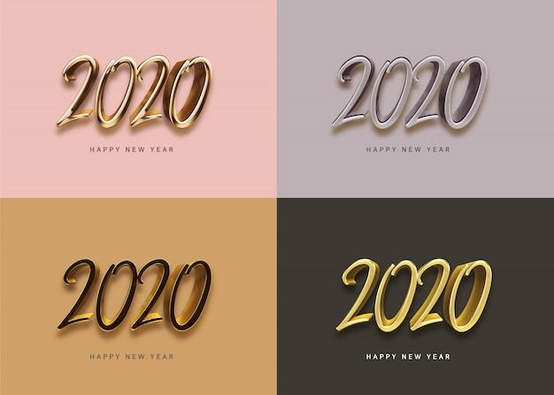 Saludos de año nuevo para 2020