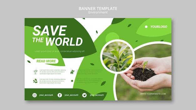 Salva il modello di banner del mondo