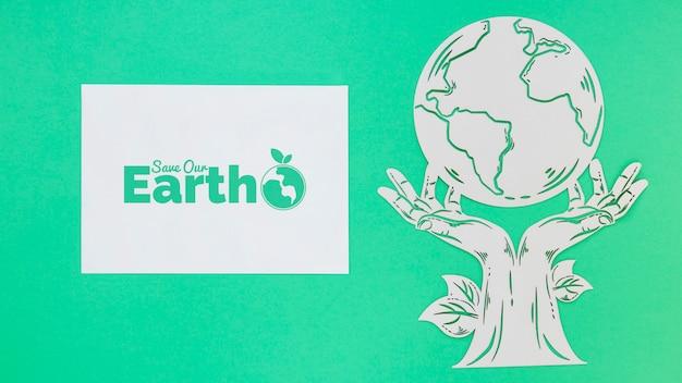 Salvare la terra mock-up