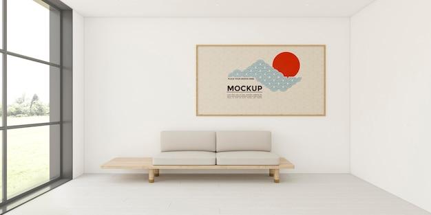 Samenstelling interieur met frame mock-up