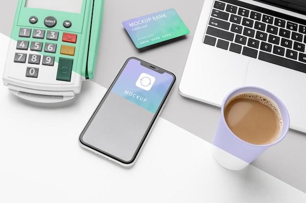 Samenstelling met mock-up voor smartphonebetalingsapp