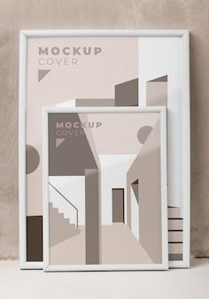 Samenstelling van decoratieve mock-upframes