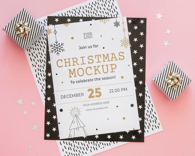 Samenstelling van kerstavond elementen mock-up