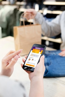 Samenstelling van mock-up mobiele betaalapplicatie