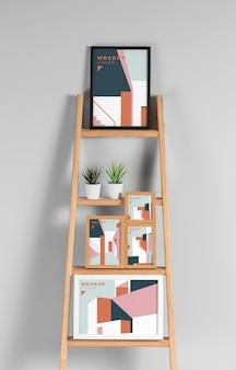Samenstelling van moderne mock-up frames