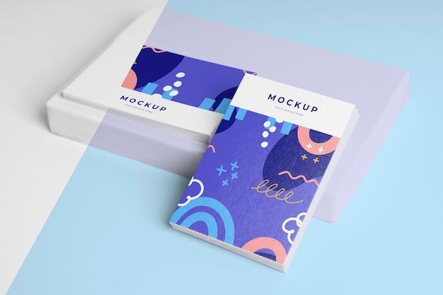 Samenstelling van patroon visitekaartje mock-up