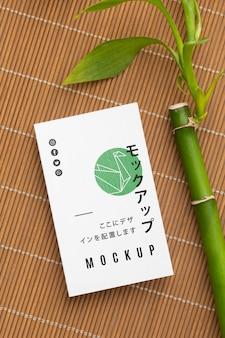 Samenstelling van visitekaartje mock-up