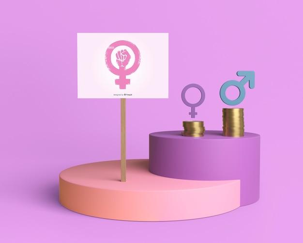 Samenstelling voor gendergelijkheid concept