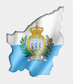 San marino vlag kaart