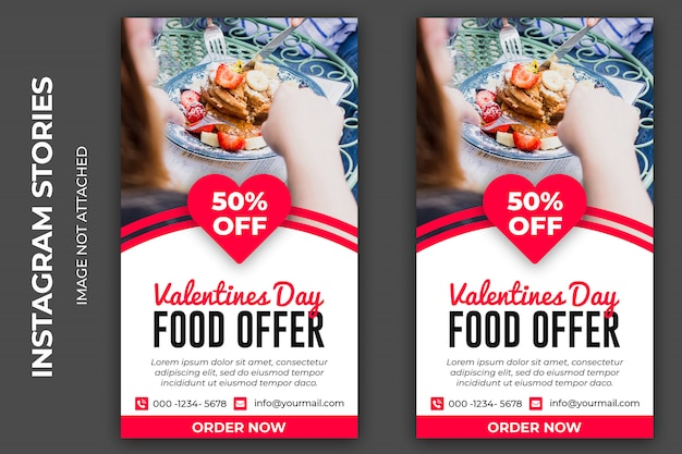 San valentín día comida oferta historia social