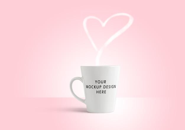 San valentín una taza maqueta