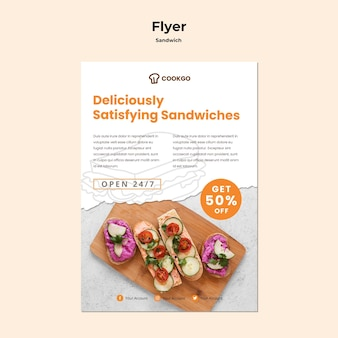 Sandwich concept flyer sjabloon
