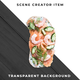 Sandwichplak transparant psd