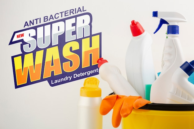Sanitaire producten met mock-up