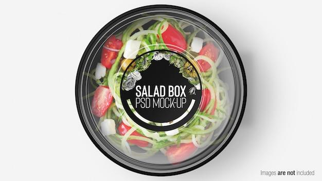 Scatola di insalata con strato