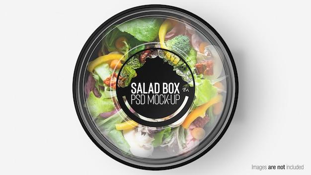 Scatola di insalata di mix verde con strato