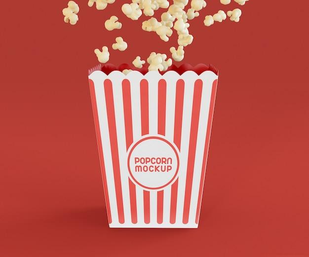 Scatola di popcorn mockup