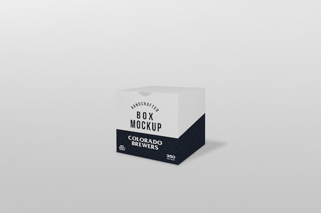 Scatola quadrata confezione mockup