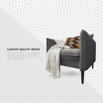 Scene creator aim chair sofa met kussendecoratie