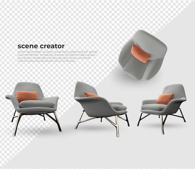 Scene creator bank met kussens ontwerp