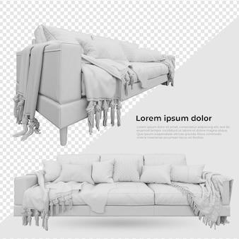 Scene creator blank doel stoel bank met kussen decoratie meubels