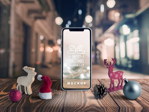 Scène maker mockup met kerst concept