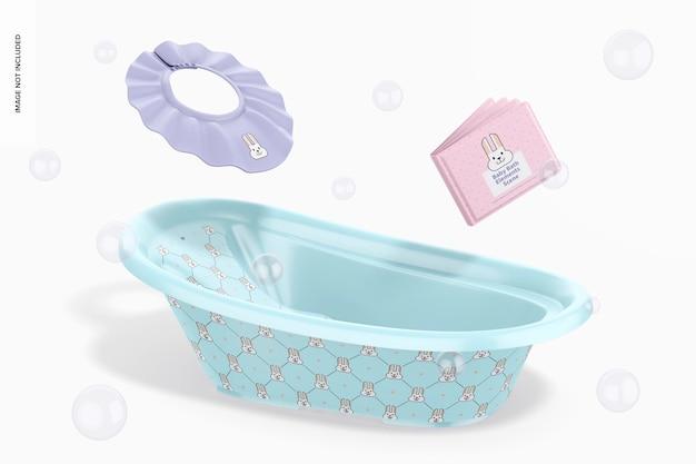 Scènemodel voor babybadelementen, vallend