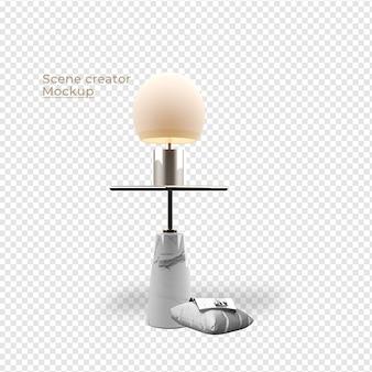 Scenes creator lamp en kussen decoratie ontwerp