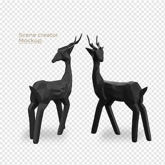 Scènes maker zwart hert decoratieontwerp
