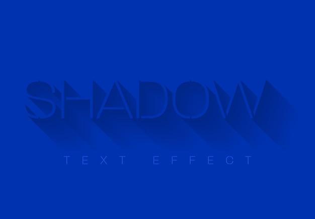Schaduw teksteffect sjabloon