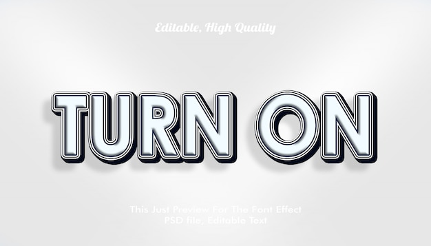 Schakel het moderne 3d-trendy lettertype-effect in