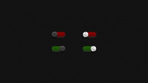 Schakelen rode groene knop