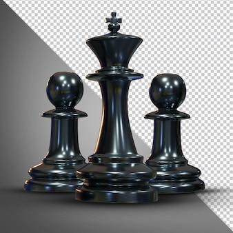 Schaken 3d-rendering geïsoleerd beeld