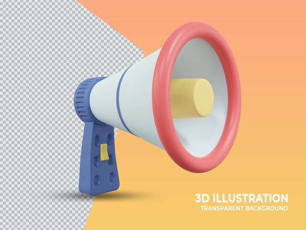 Schattig 3d-gerenderde transparante marketing hand mike ontwerp
