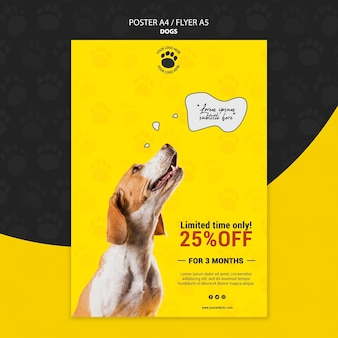 Schattige hond poster stijl