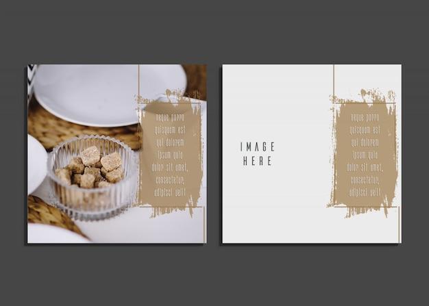 Scheda creativa con un bel design fotografico