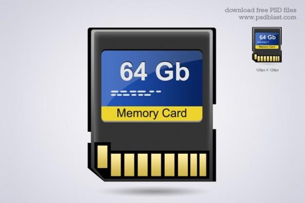Scheda di memoria icona hardware psd