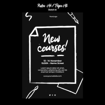 Schets concept poster sjabloon