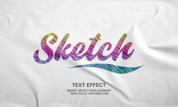 Schets teksteffect sjabloon