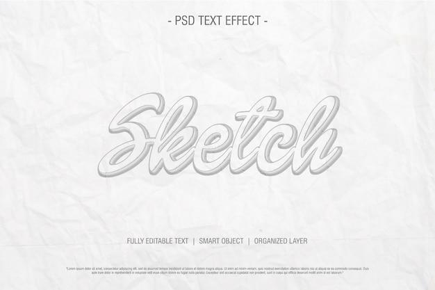 Schets teksteffect