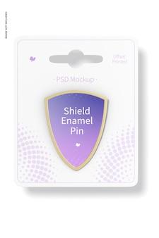 Schild email pin mockup, vooraanzicht