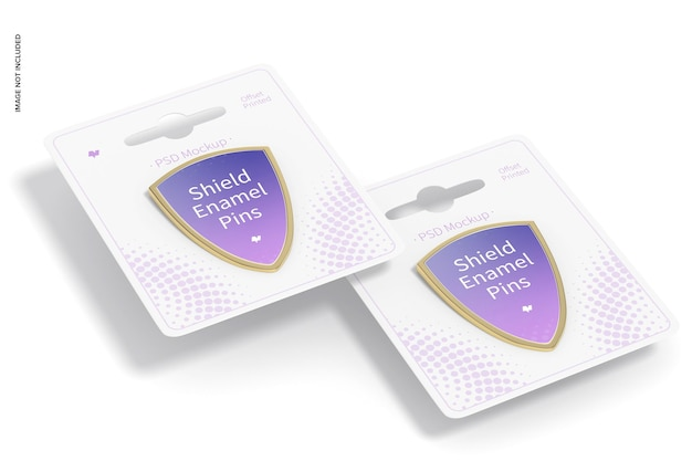 Schild emaille pin mockup