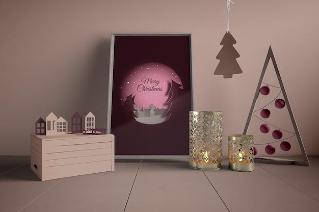 Schilderen en decoraties voor kerstmis