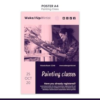 Schilderen klasse poster sjabloon