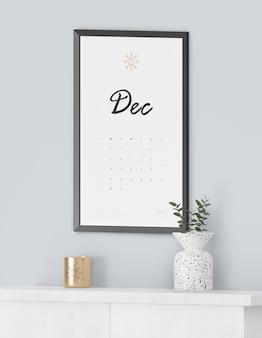 Schilderij frame voor kalender