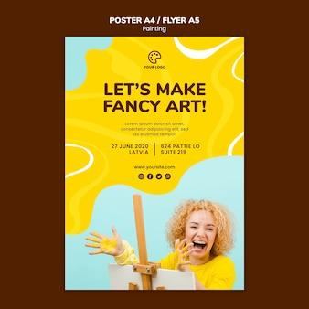 Schilderij klasse poster sjabloon