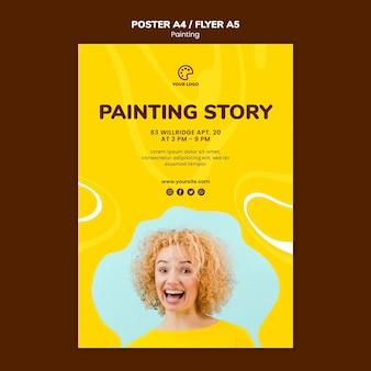 Schilderij verhaal sjabloon concept