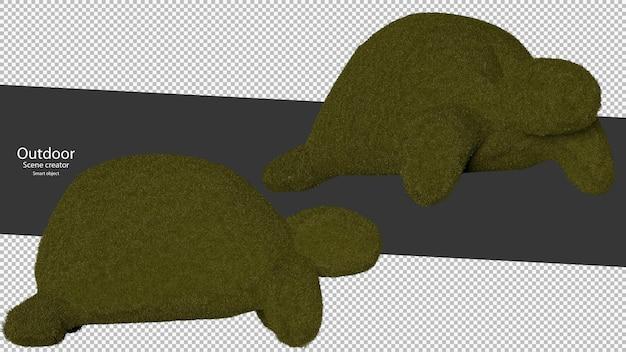 Schildpadvormige tuinhagen